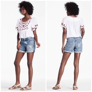 NWT Lucky Brand Printed Roll Up Cutoff Shorts